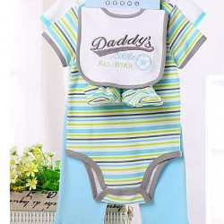 Carter's baby 5piece set- Includes 2 bodysuit, 1 pants, 1 bib and 1 pair of booties (Daddy's All Star)- 3mths