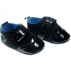 Soft Touch Baby Boy Patent  Shoes - 0-3mths, 3-6mths, 6-9mths