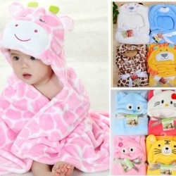 Carter's baby Hooded Animal Mink Blankets- assorted designs