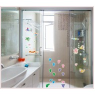 Reusable Glass Decor Stickers- assorted designs(flowers, aquatic, butterflies)