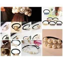 Lovely Women/Girls Pearl Hair Elastics/Bracelets assorted designs