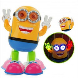 Dancing Minions Robot Toys with Music & Light