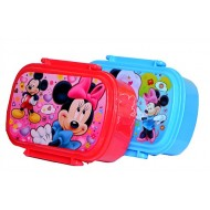 Mickey & Minnie Plastic Lunch box with spoon