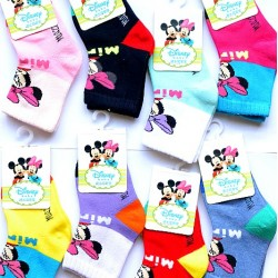 Cute Disney Minnie Mouse Baby Socks- assorted designs (0-6mths)