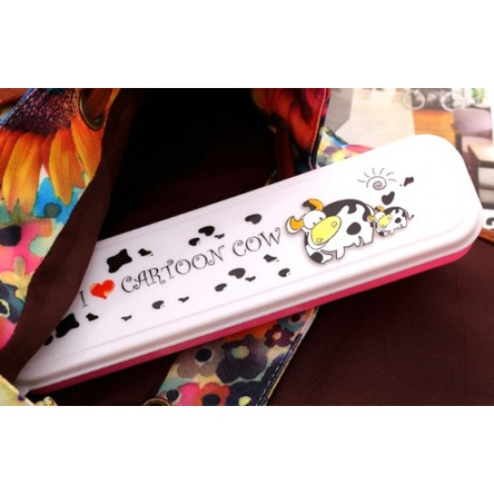 Cartoon Cutlery Case- Kitty, Cow & Doraemon (ONLY CASE)