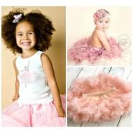 Infant/Toddler Peach Tutu Pettiskirt- One size (6mths-36mths)