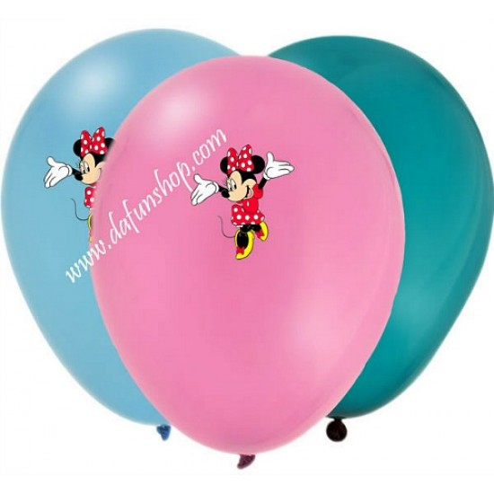 10 pack Large Character Printed Balloons- Sofia, Minions, Minnie, Frozen, Spiderman