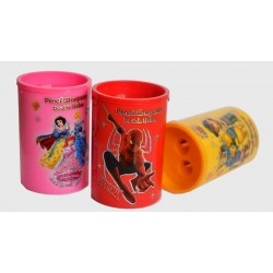 Cartoon Double Hole Tidy Sharpeners-assorted characters- pack of 12