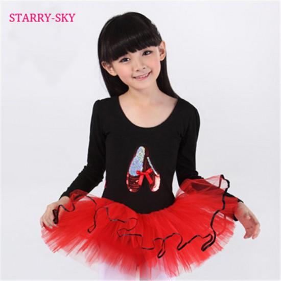 996ea5845 Lovely Barbie Girl Red & Black Ballerina Leotard Tutu Dress (3-4yrs)