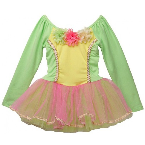 c5a5d853d Lovely Barbie Girl Ballerina Long Sleeve Leotard Tutu Dress (4yrs)