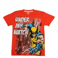 KidsVille Boys Coral Red Marvel Printed T Shirt (11-12yrs)