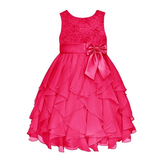 American Princess Infant & Toddler Girl's Ruffled Party Dress- Pink  (4T)