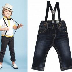 Boys Denim Jeans With Suspenders (2yrs, 4-5yrs)
