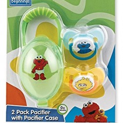 Sesame Beginnings Pacifier and Pacifier Case Set