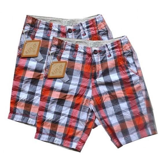 Replay Boys Plaid Shorts- 9-10yrs