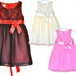 Angel Inspiration lace to Chiffon Party Dress- 3 colours - 2-6yrs