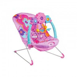 Fisher-Price Pink Petals Kick 'n Play Bouncer