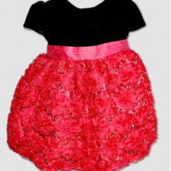 Bella by Marmellata Rose Petals Velvet Dress- 12mths-3yrs