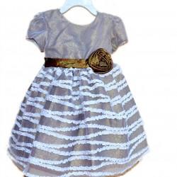 Bella by Marmellata Metallic Occassion Dress- 2yrs