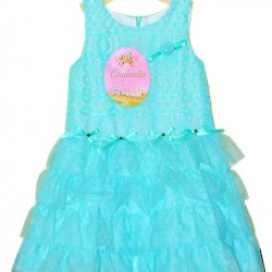 Cinderella Green Lace Tiered Tutu Dress (12mths)