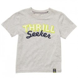 Carter's boys short sleeve 'THRILL SEEKER' Orange graphic tee- 24mths