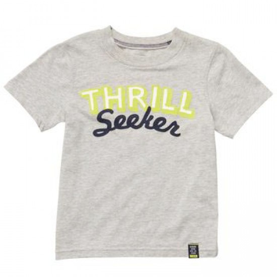 Carter's boys short sleeve 'THRILL SEEKER' Orange graphic tee- 24mths