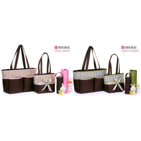 Carter's Colorland 4pc Multifunctional Diaper Bag Set (2 colours Pink & Blue)