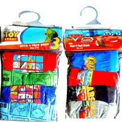Disney 4 pack boys briefs (Toy story & Pixar Cars) 2-3yrs, 3-4yrs, 5-6yrs