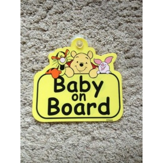 DISNEY WINNIE THE POOH BABY / CHILD ON BOARD CAR SIGN