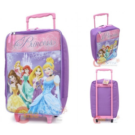 Disney Princess with Tangled Soft Pilot Rolling Luggage