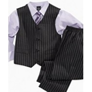 Dockers Stripe 4piece Boys Suit Set- Shirt, Tie, Vest, Pants (6yrs)
