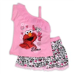 ELMO Girls Toddler 2PC Scooter Set - 2,3,yrs