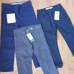Boys Chinos Pants Grey Colour- 2yrs Dark Blue- 3yrs  Navy Blue- 4yrs