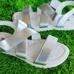 CKA3KA Silver Girls Sandals - Eur Size 33