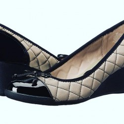 Anne Klein Tallula Quilted Wedge Pumps - Size - US 6 / Eur 38