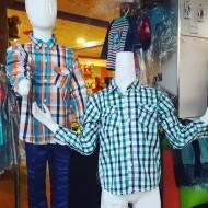 OSHKOSH Boys Long Sleeve Plaid Shirts.