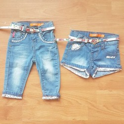 Baby Girls Denim Shorts/Pants  6mths