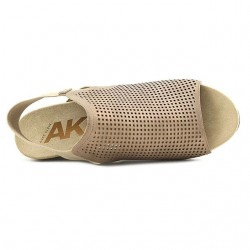 Anne Klein Sport Channyng Open Toe Synthetic Bronze Wedge Sandal  - Size - US 6/ EUR 38