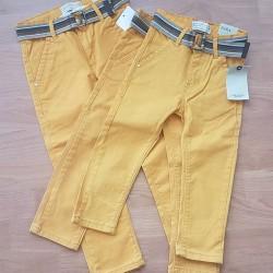 Zara Boys Mustard Denim Belted Jeans  2yrs, 3yrs, 5yrs