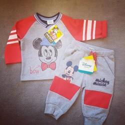 Disney Mickey Mouse Baby Boy Joggers Set - 0-3mths, 3-6mths, 6-12mths