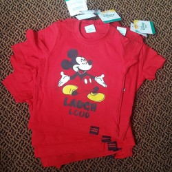 "Baby Boy ""Laugh Loud"" Mickey Tees - 6-9mths, 9-12mths, 12-18mths"