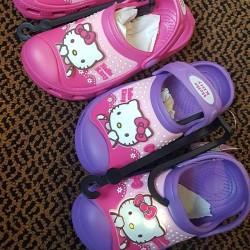 Hello Kitty Original Crocs with Light.  - Size 24-29