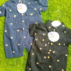 Baby Boy Cotton Romper Shirt - 3 - 9mths