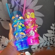 Kids Tropical Straw Cups with Light