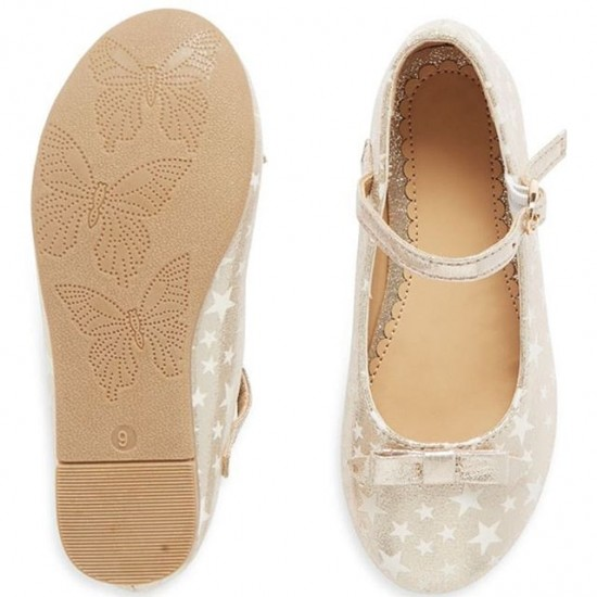 Mothercare Glow in the Dark Sparkly Star Ballet Shoes  - Size UK 10