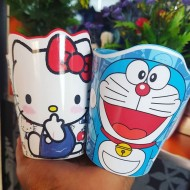 Kids Drinking Cups - Hello Kitty and Doraemon designs