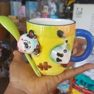 Dainty Novelty Cow Mug with Spoon