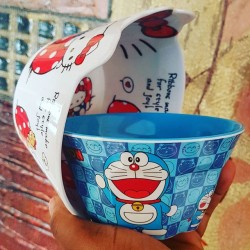 Kids Cereal Bowls - Hello Kitty and Doraemon Design