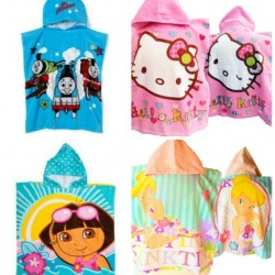 Character Poncho/Hooded Towels- Thomas , Hello Kitty, Tinkerbell, Dora