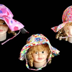 Baby Plus Floral Cotton Baby Sun Hat- 3 designs (0-18mths)